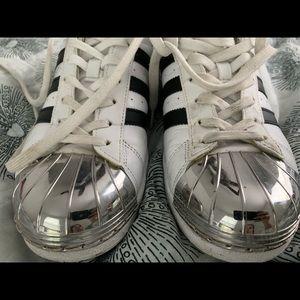 Adidas metal tipped superstar